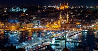 İstanbul Eminönü ve Sultanahmet semtlerinden bir görüntü, önde Galata Köprüsü yer alıyor.