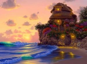 Çocuksu hayalleri canlandıran bir hayal ev daha.... sanatçının hayaline sınır yok
