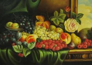 harika bir meyve tabağı resmi