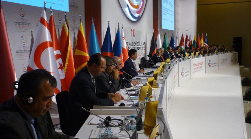 11.Ulaştırma şurası uluslararası katılımla gerçekleşti. Bakanlar düzeyinde toplantıdan bir görüntü