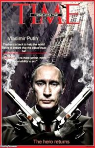 Putin mafya üyesi zalim ve insanlık dışı bir katil, bir gangster gibi gösteren Time dergisinin kapağı